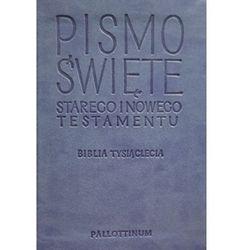 Pismo Święte Starego i Nowego Testamentu - Biblia Travel ekoskóra jasnoniebieska