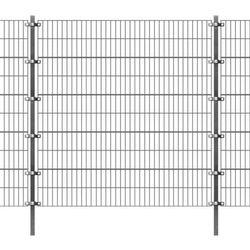 Panel ogrodzeniowy z słupkami, 6 x 2 m, antracyt