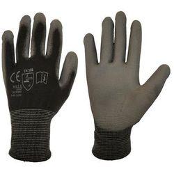Rękawice ochronne r. L / 8 poliestrowe z powłoką poliuretanową