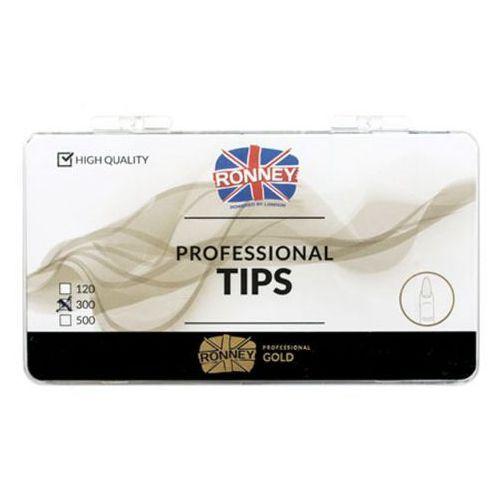 Tipsy, Ronney PROFESSIONAL TIPS ALMOND CREAM Tipsy migdałki bez kieszonki, kremowe (300 szt.)