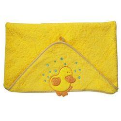 Okrycie kąpielowe z kapturem 76x76 cm BabyOno, żółte z kaczuszką - żółty / kaczuszka