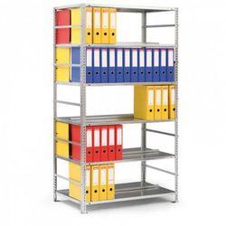 Regał na segregatory COMPACT, 7 półek, 2200x1250x600 mm, szary, podstawowy