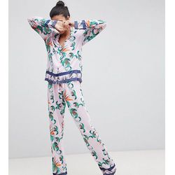 ASOS DESIGN Tall Tropical 100% Modal Traditional Shirt & Trouser Pyjama Set - Multi