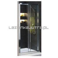 Drzwi prysznicowe, KOŁO GEO 6 Drzwi prysznicowe 120cm, profile srebrny połysk, szkło transparentne GDRS12222003A+GDRS12222003B