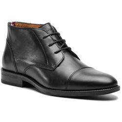 Trzewiki TOMMY HILFIGER - Essential Leather Toecap Boot FM0FM02138 Black 990