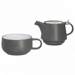 Maxwell & williams - tint - zestaw tea for one, grafitowy