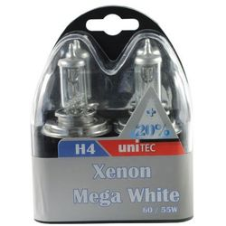 Żarówka Unitec H4 mega white xenon