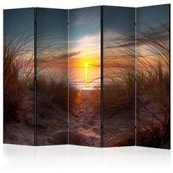 Parawan 5-częściowy - zachód słońca nad oceanem atlantyckim ii [room dividers]