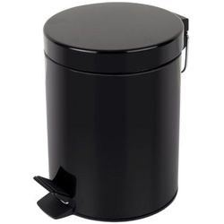 Kosz na śmieci 12l stal nierdzewna czarny Kosz na odpadki czarny otwierany przyciskiem nożnym