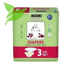 Pieluchy jednorazowe, MUUMI Baby Pieluchy 3 Midi 50szt pieluszki hipoalergiczne i ekologiczne (5-8kg)