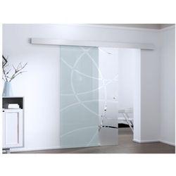 Naścienne drzwi przesuwne HEIDI — 205 × 93 cm (wys. × szer.) — szkło hartowane
