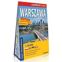 Przewodniki turystyczne, Warszawa kieszonkowy laminowany plan miasta 1:26 000