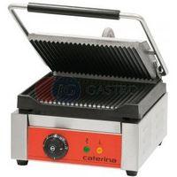 Grille gastronomiczne, Grill kontaktowy elektryczny pojedynczy góra i dół ryflowane Caterina 742011