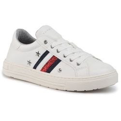 Sneakersy TOMMY HILFIGER - Low Cut Lace-Up Sneaker T3A4-30436-0705 White 100