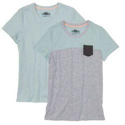 Shirt z krótkim rękawem (2 szt.) bonprix jasnoszary melanż - jasny miętowy