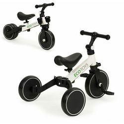 Rowerek biegowy, trójkołowy z pedałami, dla dzieci, 4w1, biały
