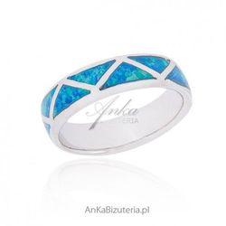 ankabizuteria.pl Biżuteria z opalem wyjątkowy pierścionek srebrny z opalem