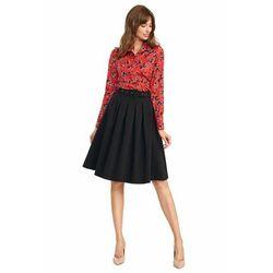 Spódnica midi z paskiem w kolorze czarnym - SP63
