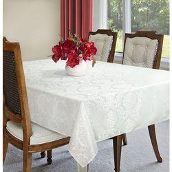 Obrus SUSAN 140x180+4*42x42 EUROFIRANY biały/srebrny