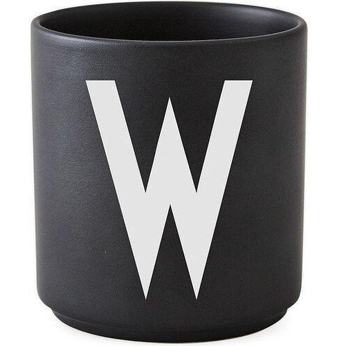 Kubki, Kubek porcelanowy AJ czarny litera W