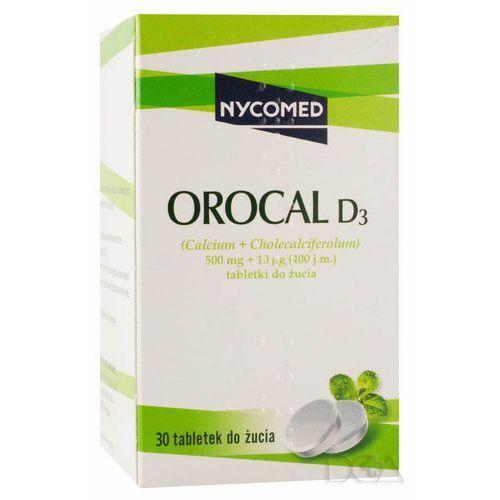 Leki na osteoporozę, Orocal D3 (smak miętowy) 30 tabl.