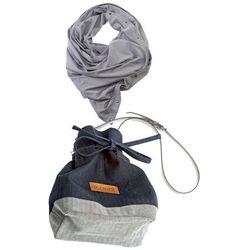 Komplet torebka dżins i szal