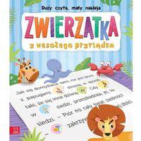 Książki dla dzieci, Duży czyta, mały nakleja Zwierzątka z wesołego przylądka - Praca zbiorowa (opr. broszurowa)