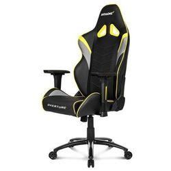 AKracing Overture Yellow Krzesło gamingowe - Czarno-żółty - Skóra PU - 150 kg