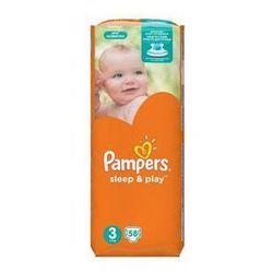 Pieluszki Pampers Sleep&Play rozmiar 3 midi 4-9kg, 58 szt.