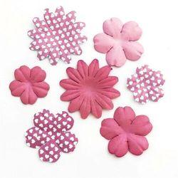 Kwiaty papier GP PŁATKI op.24 mix róż 252016