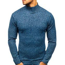 Sweter męski golf niebieski Denley H1801