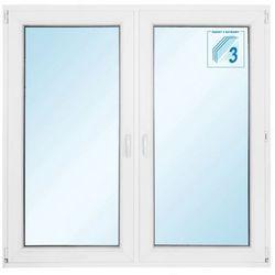 Okno PCV rozwierne + rozwierno-uchylne trzyszybowe 1465 x 1435 mm symetryczne