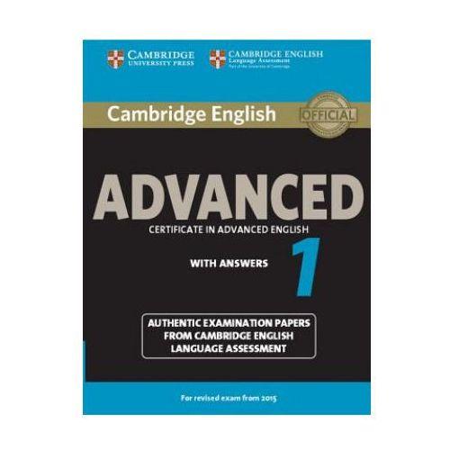 Książki medyczne, Camb English Advanced 1 for updated exam: Student's Book with answers egzamin 2015 (opr. miękka)