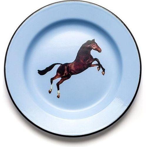 Talerze, Talerz Seletti Wears Toiletpaper emaliowany Horse