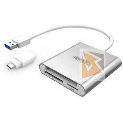 Unitek Czytnik kart pamieci USB 3.0 + USB TYP-C; Y-9313D