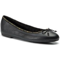 Baleriny TOMMY HILFIGER - Leather Ballerina Tommy Branding FW0FW04439 Black 990