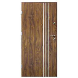 Drzwi zewnętrzne O.K.Doors Arte III Line 90 lewe złoty dąb