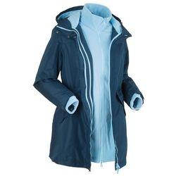 Płaszcz outdoorowy 3 w 1 bonprix ciemnoniebiesko-jasnoniebieski