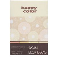 Bloki, Blok Deco Ecru A4 170g 20 arkuszy 4 kolory 5 sztuk