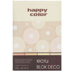 Blok Deco Ecru A4 170g 20 arkuszy 4 kolory 5 sztuk