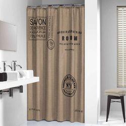 Sealskin Savon De Provence Linen zasłona prysznicowa tekstylna 180x200cm 233321366 Darmowa wysyłka i zwroty
