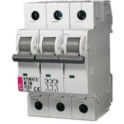 ETI Wyłącznik nadprądowy ETIMAT6 3-polowy 6kA B 25A 002115518