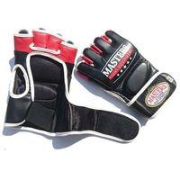 Rękawice do walki, Rękawice MASTERS do MMA GF-30A NOWOŚĆ!!! - czarno-czerwono-biały