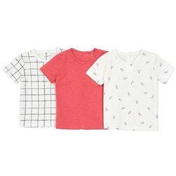 Zestaw 3 koszulek niemowlęcych z krótkim rękawem 1 miesiąc - 3 lata