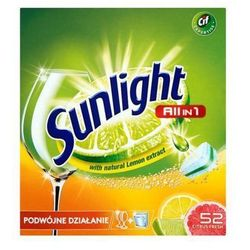 SUNLIGHT 52szt All in 1 Citrus fresh Double action Tabletki do zmywarek z ekstraktem z cytryny
