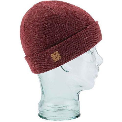 Nakrycia głowy i czapki, czapka zimowa COAL - The Harbor Heather Burgundy (03)