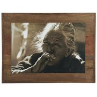 Ramki na zdjęcia, Ib Laursen - Drewniana ramka ze zdjęciem starej kobiety Unique