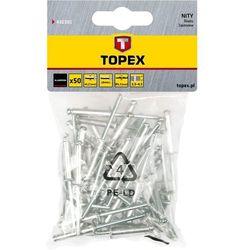 Nity aluminiowe TOPEX 43E503 4.8 x 12.5 mm (50 sztuk) + Zamów z DOSTAWĄ JUTRO!