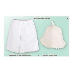 Kilt Ręcznik 50*140cm 100% Bawełna + Czapka biała do sauny B