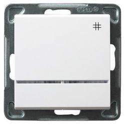 Łącznik krzyżowy Ospel Sonata ŁP-4RS/M/00 16AX z podświetleniem IP20 biały